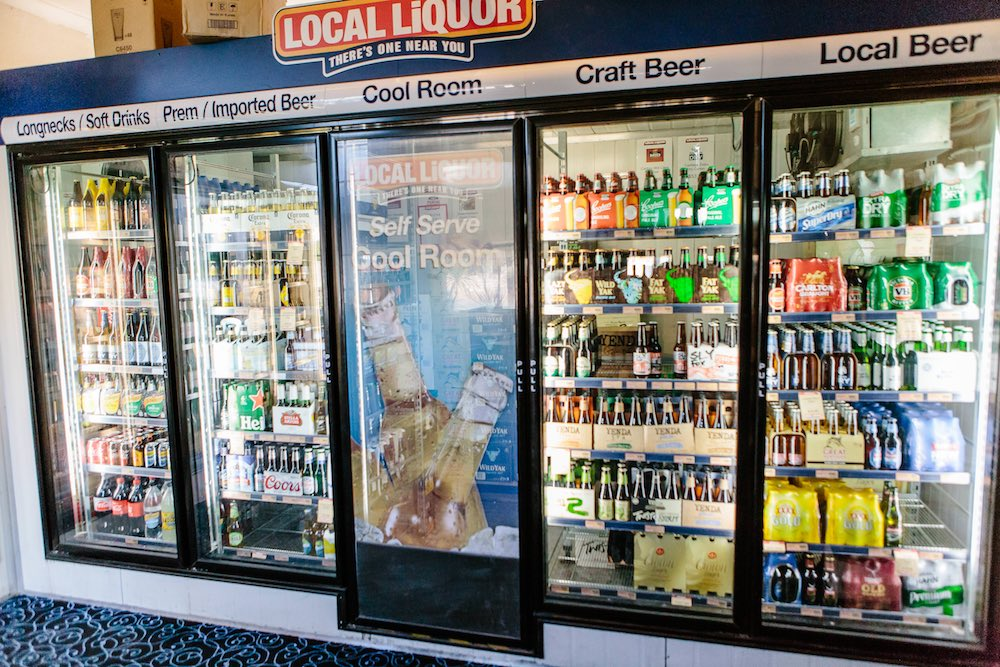 Imported, local and craft beers at the Friendly Inn bottle shop